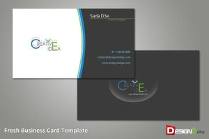 Fresh Business Card Template by psadap