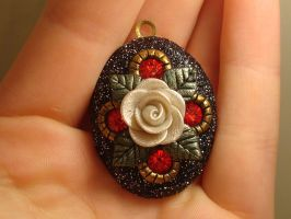 Rose Locket with Sparkles by CharpelDesign
