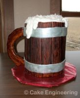 Beer Mug Cake by cake-engineering