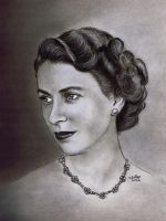 Young Elizabeth II by ADRIANSportraits
