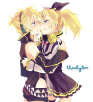 Kagamine Twins Render 01 by BlueSkyline16