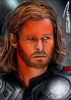 Thor Movie Sketch Card 2 by RandySiplon