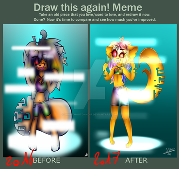 Before After   Camillia Glitch by SunnyMoutonNoir