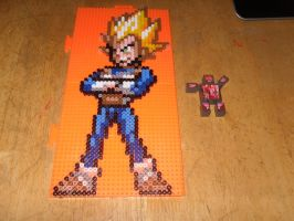 Vegeta Perler Beads by dylrocks95