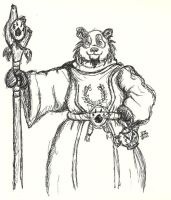 Pandaren Fellow Pen Drawing by nighte-studios