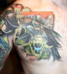 batman chest tattoo finished by carlyshephard