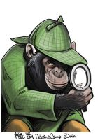 Daily Sketches Detective Chimp by fedde