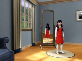 Sims 3 - Me in child form in formal outfit 1 by Magic-Kristina-KW