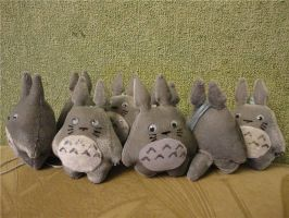 Totoro keychains 2 by Rens-twin