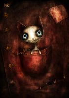 Cat in the pocket by FriendlyFish