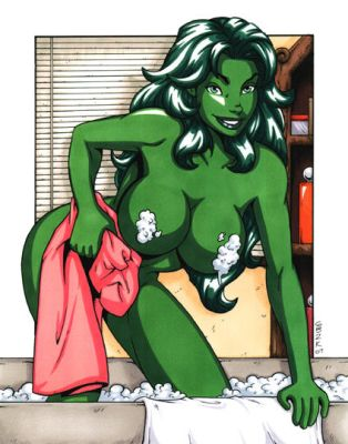 She-Hulk Pin Up by dancingoo