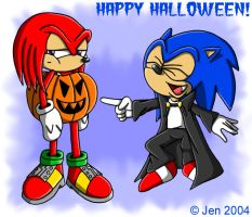 ::HALLOWEEN:: Sonic n Knuckles by JenHedgehog