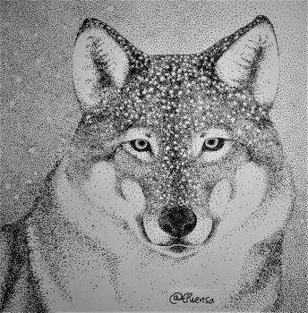 Dotted Wolf by Elwensa