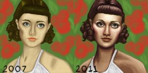 Before- After Demeter by e5ther