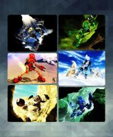 The Heros Of Bionicle Collage by Zombie-Spartan