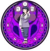 Hinata - Kingdom Hearts Stain Glass by 15sok