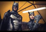 Lucca Comics and Games 2013 - Batman and Catwoman by theredviper