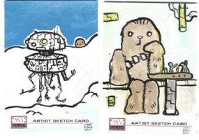 Star wars sketch cards 4 by kettleart