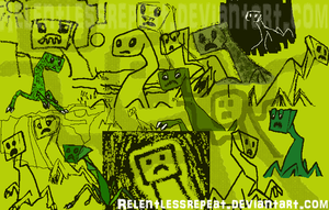 Flipnote Creepers - The Collage by RelentlessRepeat