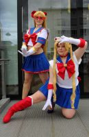 Sailor V and moon by BellaHime