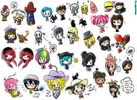Chibi Party by sachi92