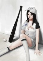 baseball girl by totoro888