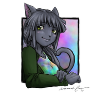 Anthro Molly by IceCatDemon