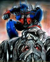 Optimus Prime Vs Megatron by Tommygunn712