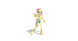 MMD Newcomer Fluttershy Equinoid + DL by Valforwing
