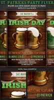 St. Patricks Party Flyer Poster Template v4 by Hotpindesigns