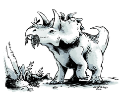 Albertaceratops by gsilverfish