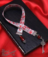 Blood Countess Satin Ribbon Bookmark by ArtOfAdornment