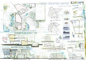 Youth creation center by AgamiDesigner