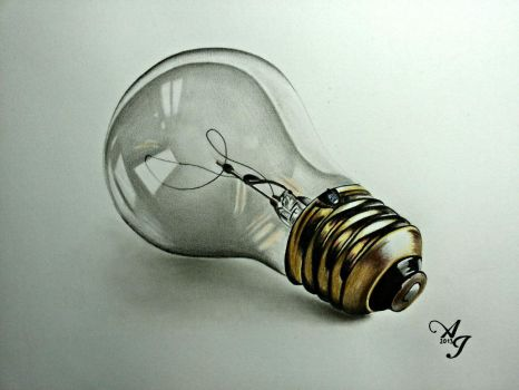 My 3D drawing of bulb by AlexArt1994