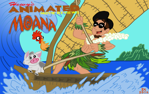HAMR - Moana Title Card by HewyToonmore