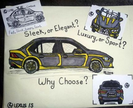 Lexus IS Contest Entry 'Rolling Sun' by Timmytushoes