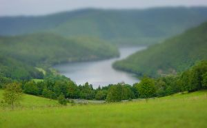 Some hills tilt shift by Leconte