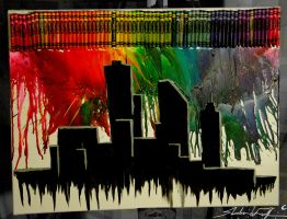 Crayon city by Valashard
