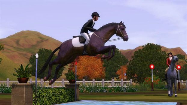 sims 3 pets Horse by CaRoMeLKA