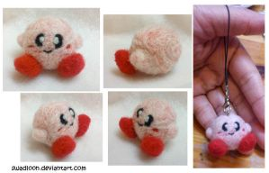 Kirby Needlefelt Charm by Swadloon