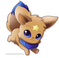 Commission: Luna the Eevee by RainbowRose912