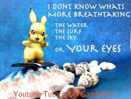 Surfing Pikachu Beach Pick Up Line by GandaKris