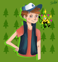 Dipper and Bill by JeanettesFan