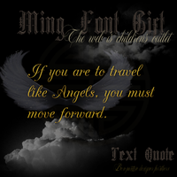Ming Font Gift Angels by TheAngeldove
