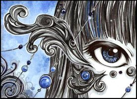 ACEO Steelblue by PaminaArtistry