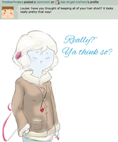 Question 31: Short Hair by Angeli-The-Icefairy