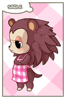 ACNL - Sable Card by MorningPanda