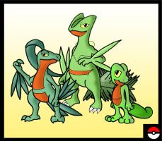 Treecko Family by ZappaZee