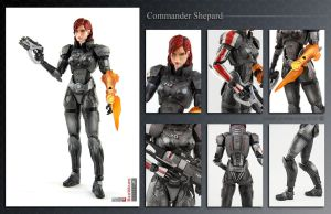 Commander Shepard ME3 action figure by shatinn