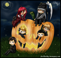 Chibi Halloween Shinigamis by Isi-Daddy